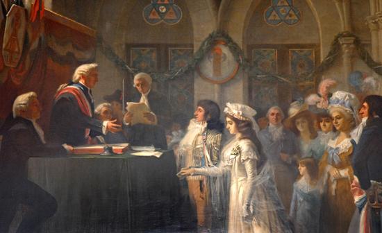 Premier mariage civil